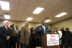 Shaw runs for Mayor